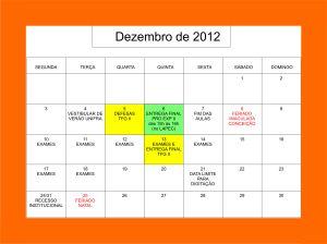 Calendário - 12